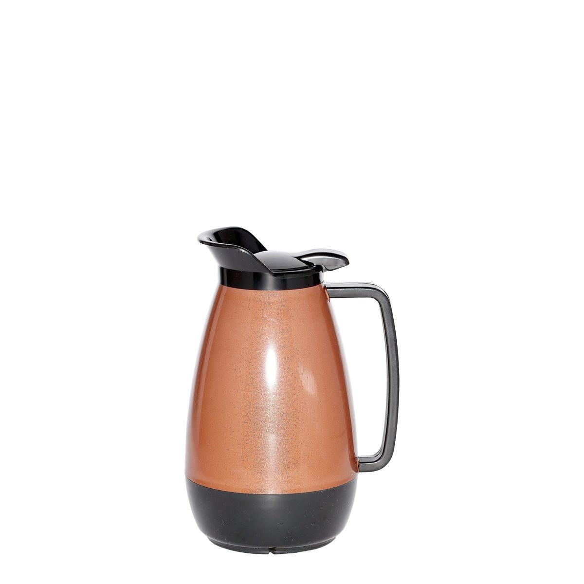 Service Ideas TS101CB Thermo-Serv Copper with Black Flip Top Server, 1 Liter (34 oz.)