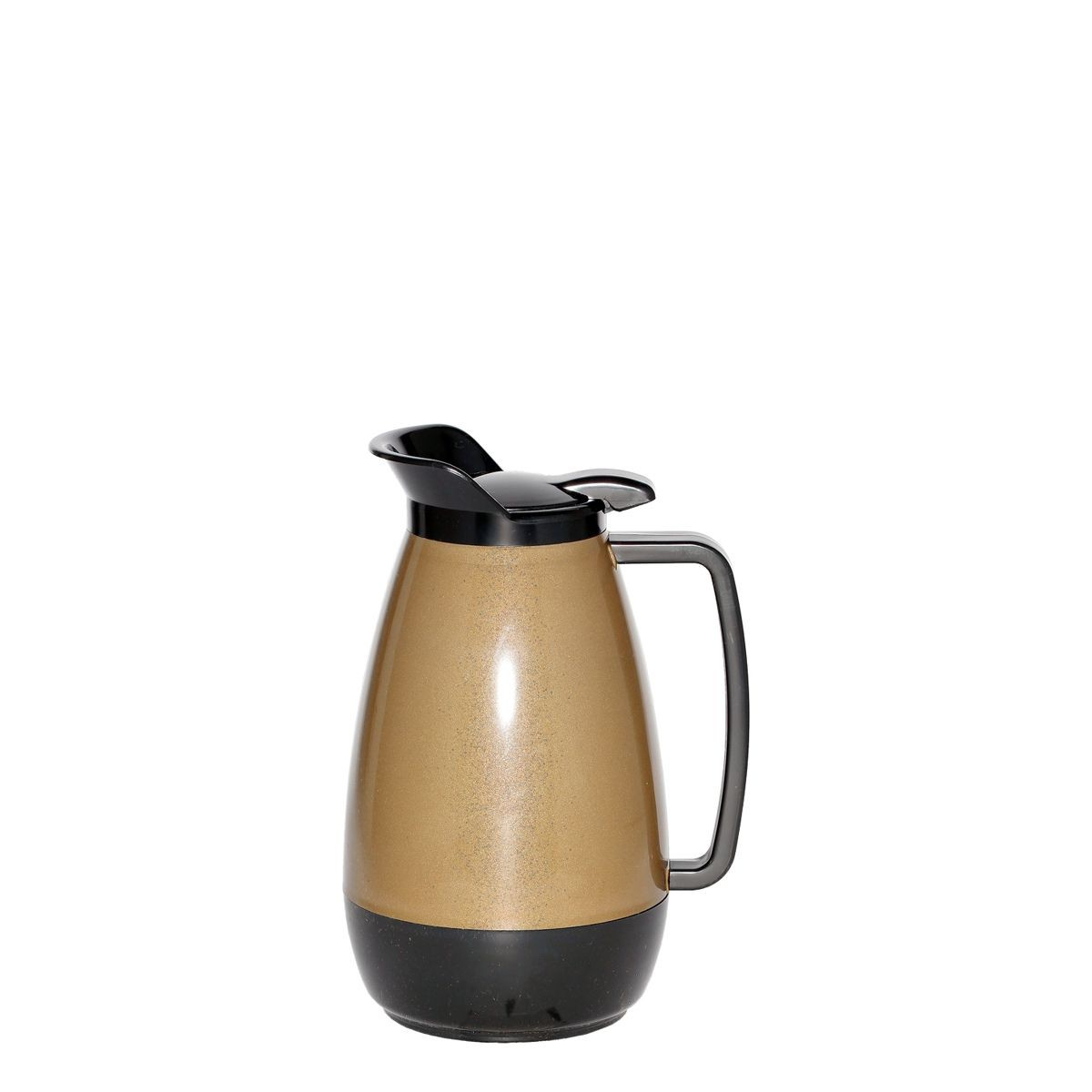 Service Ideas TS101KB Thermo-Serv Gold with Black Flip Top Server, 1 Liter (34 oz.)