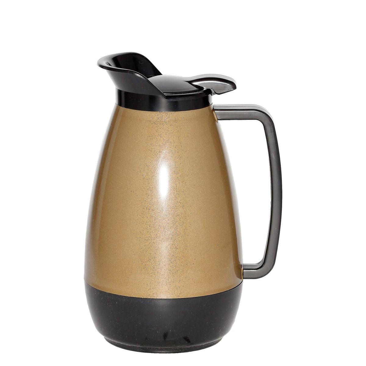 Service Ideas TS411KB Thermo-Serv Gold with Black Flip Top Server, 2 Liter (68 oz.)