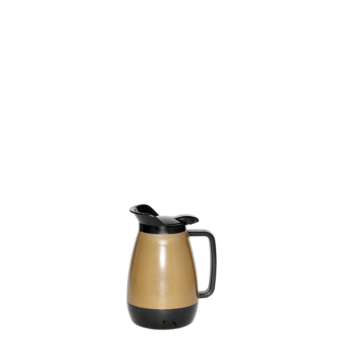 Service Ideas TS501KB Thermo-Serv Gold with Black Flip Top Server .6 Liter (20 oz.)