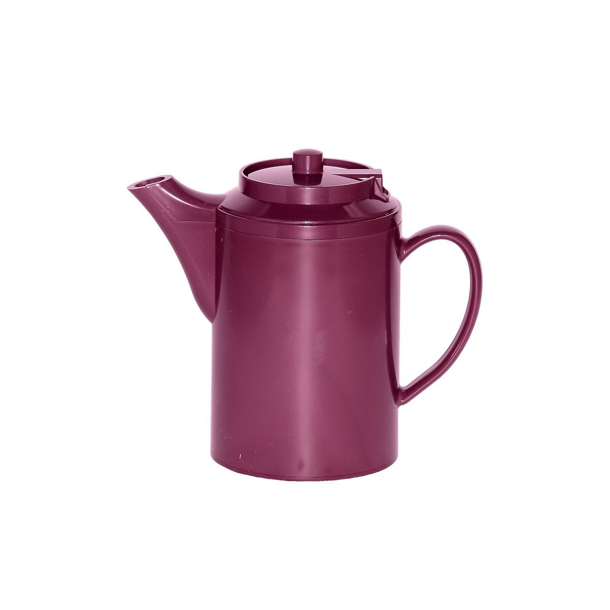 Service Ideas TS612BU Dripless Teapot with Baffled Spout, Self-Locking Lid, Burgundy 16 oz.