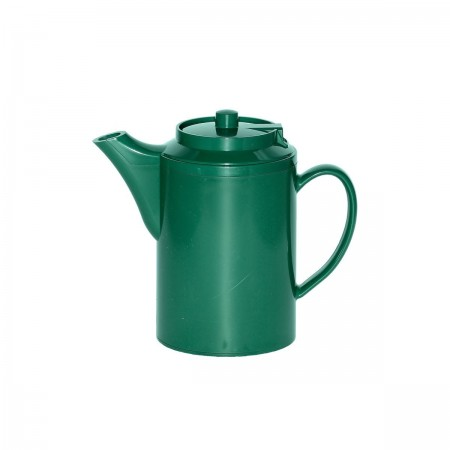 Service Ideas TS612FG Double Wall Forest Green Plastic Teapot 16 oz.