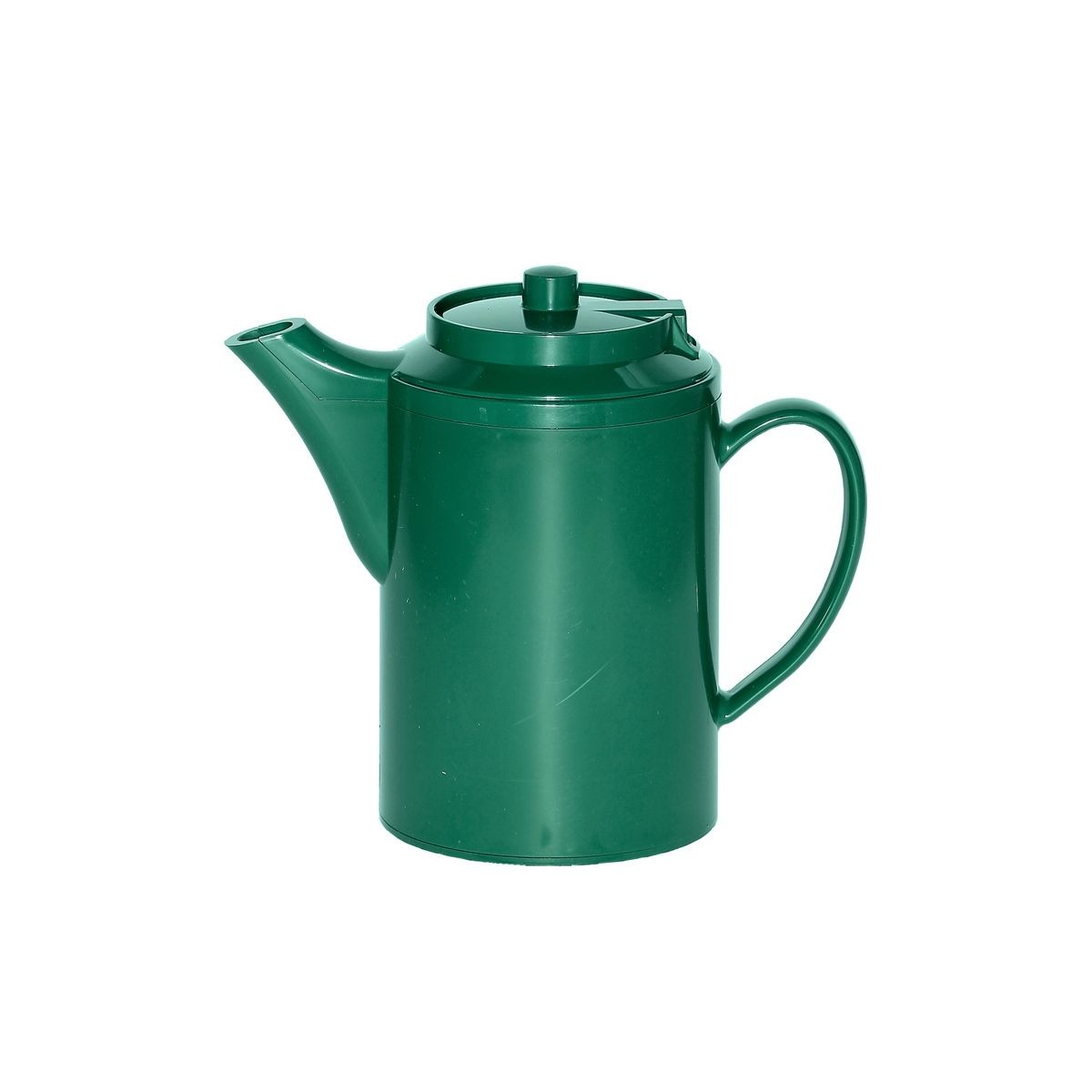 Service Ideas TS612FG Dripless Teapot with Baffled Spout, Self-Locking Lid, Forest Green 16 oz.