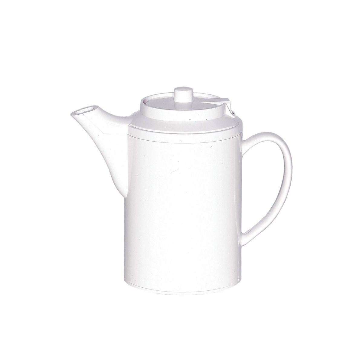 Service Ideas TS612WH Dripless Teapot with Baffled Spout, Self-Locking Lid, White 16 oz.