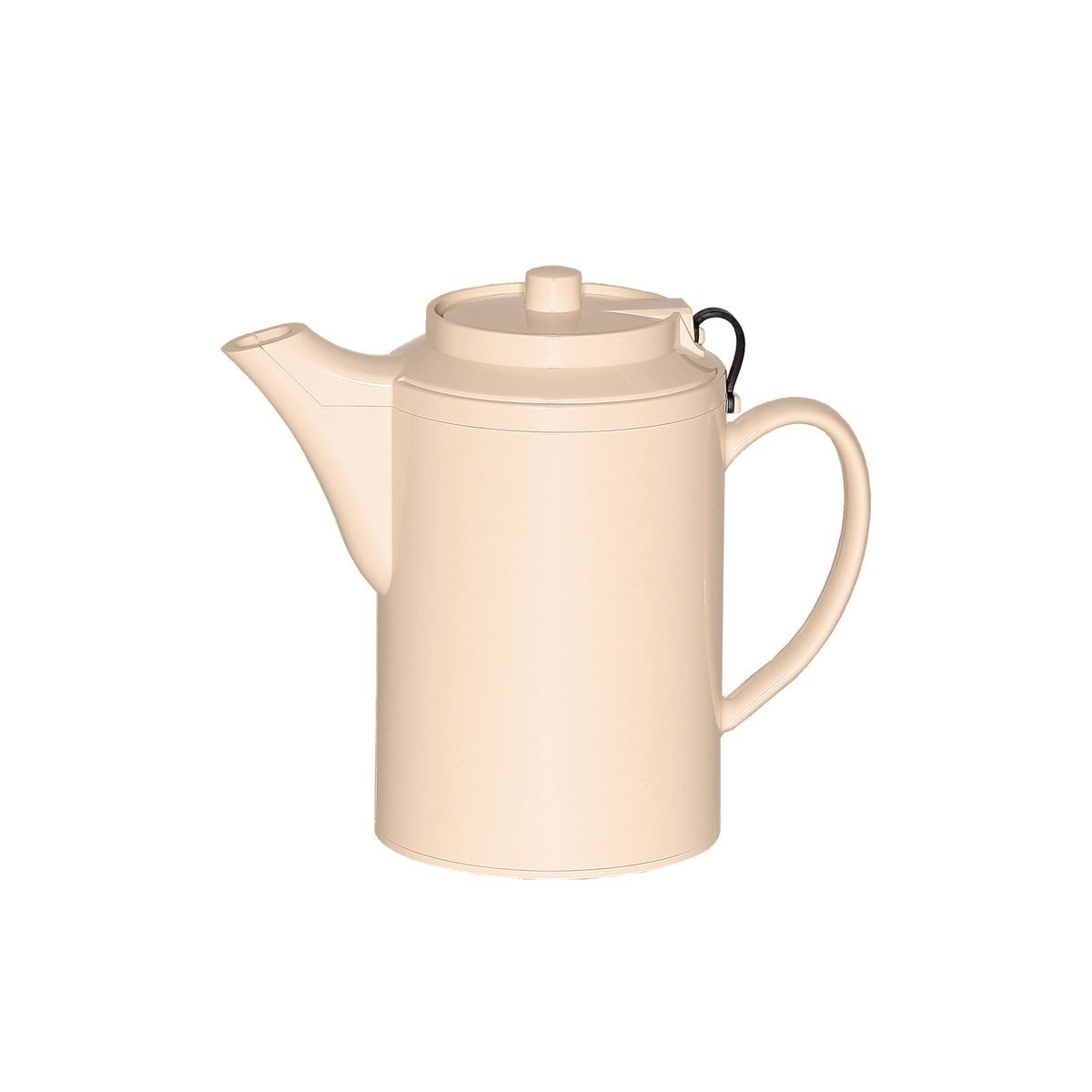 Service Ideas TST612AL Dripless Teapot with Tether, Almond 16 oz.