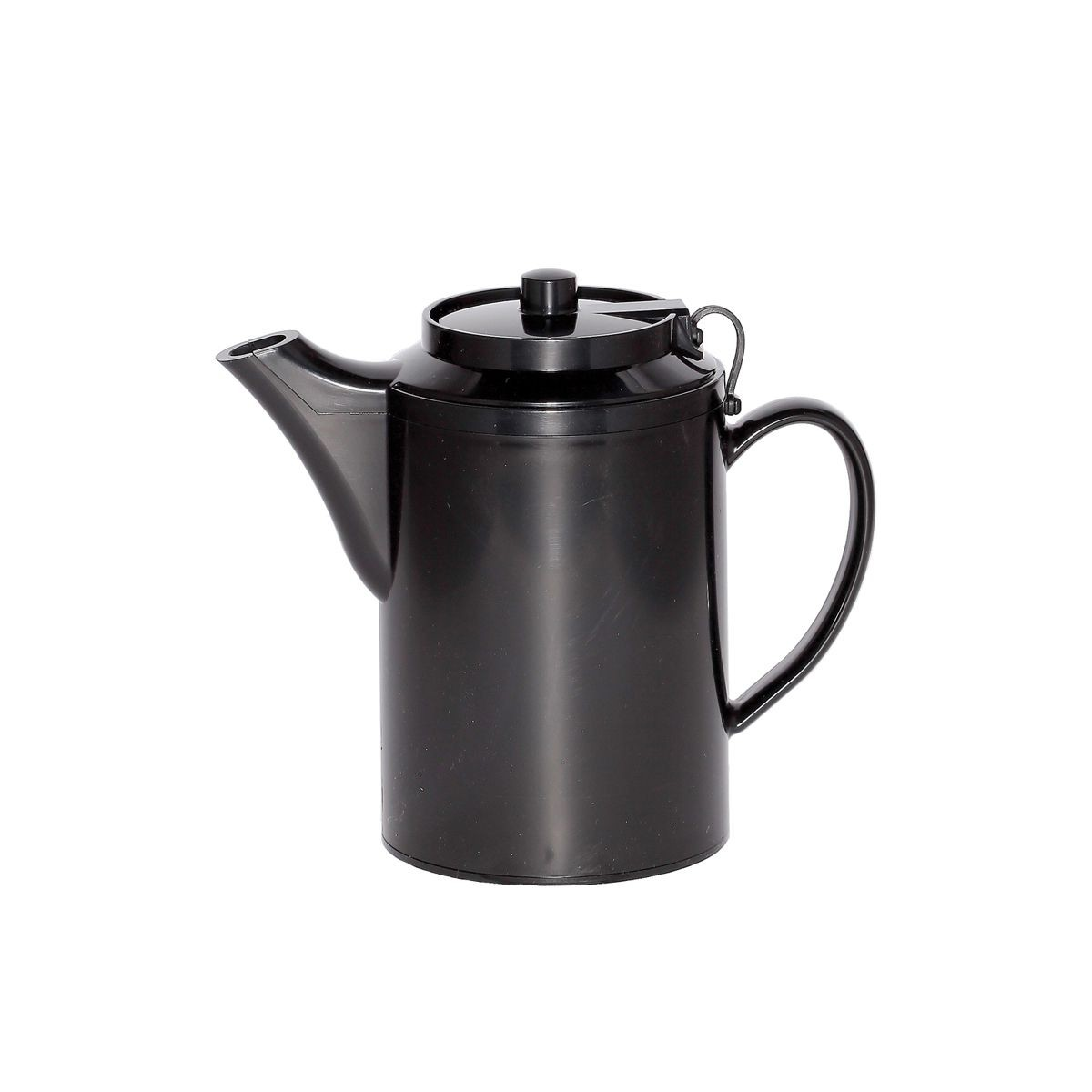 Service Ideas TST612BL Dripless Teapot with Tether, Black 16 oz.
