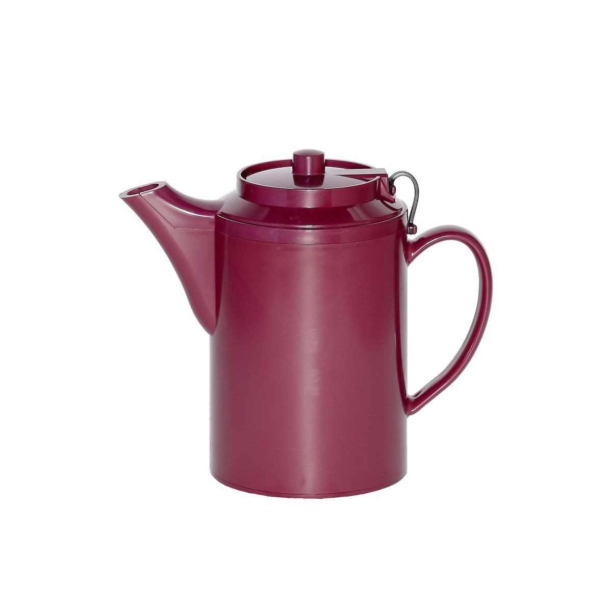 Service Ideas TST612BU Dripless Teapot with Tether, Burgundy 16 oz.
