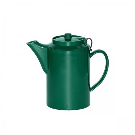 Service Ideas TST612FG Double Wall Forest Green Plastic Teapot with Tether 16 oz.