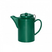 Service Ideas TST612FG Dripless Teapot with Tether, Forest Green 16 oz.