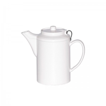 Service Ideas TST612WH Dripless Teapot with Tether, White, 16 oz.