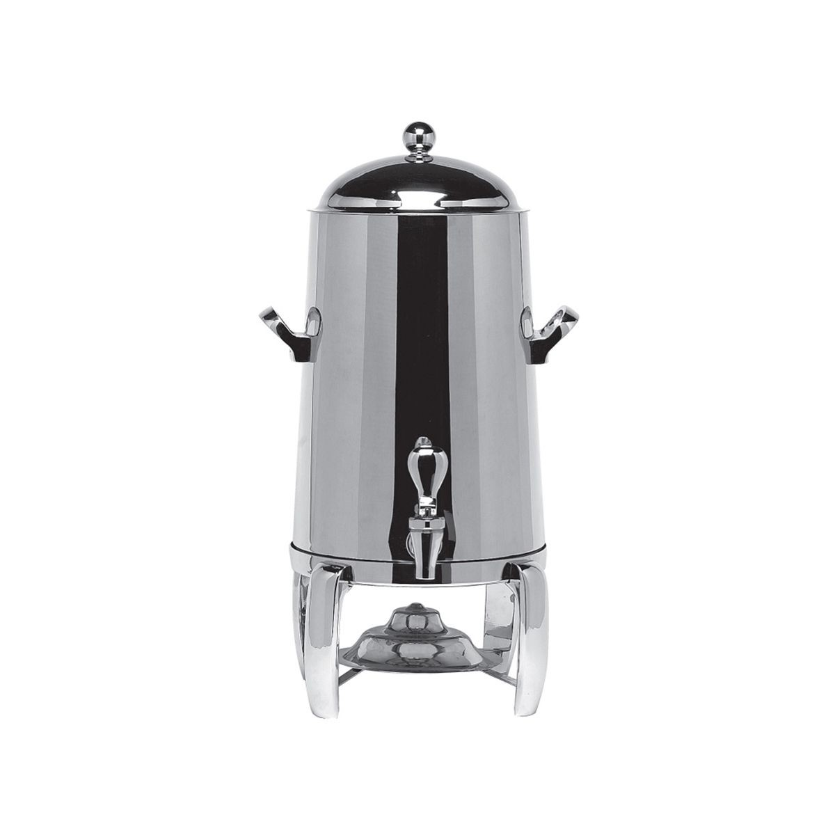 Service Ideas URN30VPS Polished Steel Flame Free Thermo Beverage Urn 3 Gallon