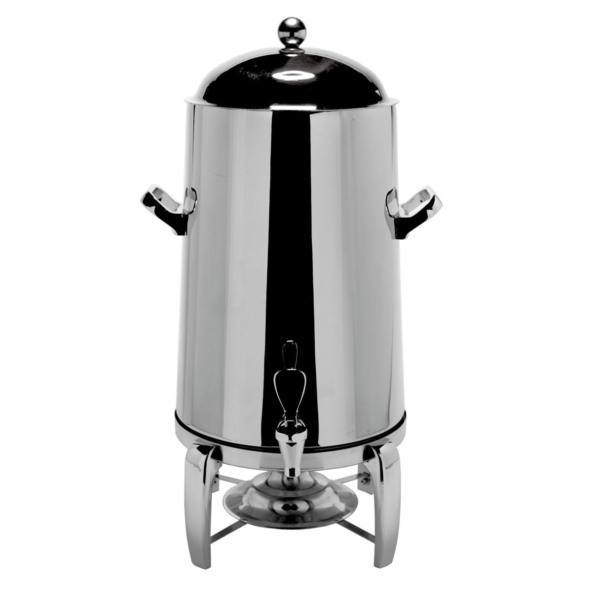 Service Ideas URN50VPS Polished Steel Flame Free Thermo Beverage Urn 5 Gallon