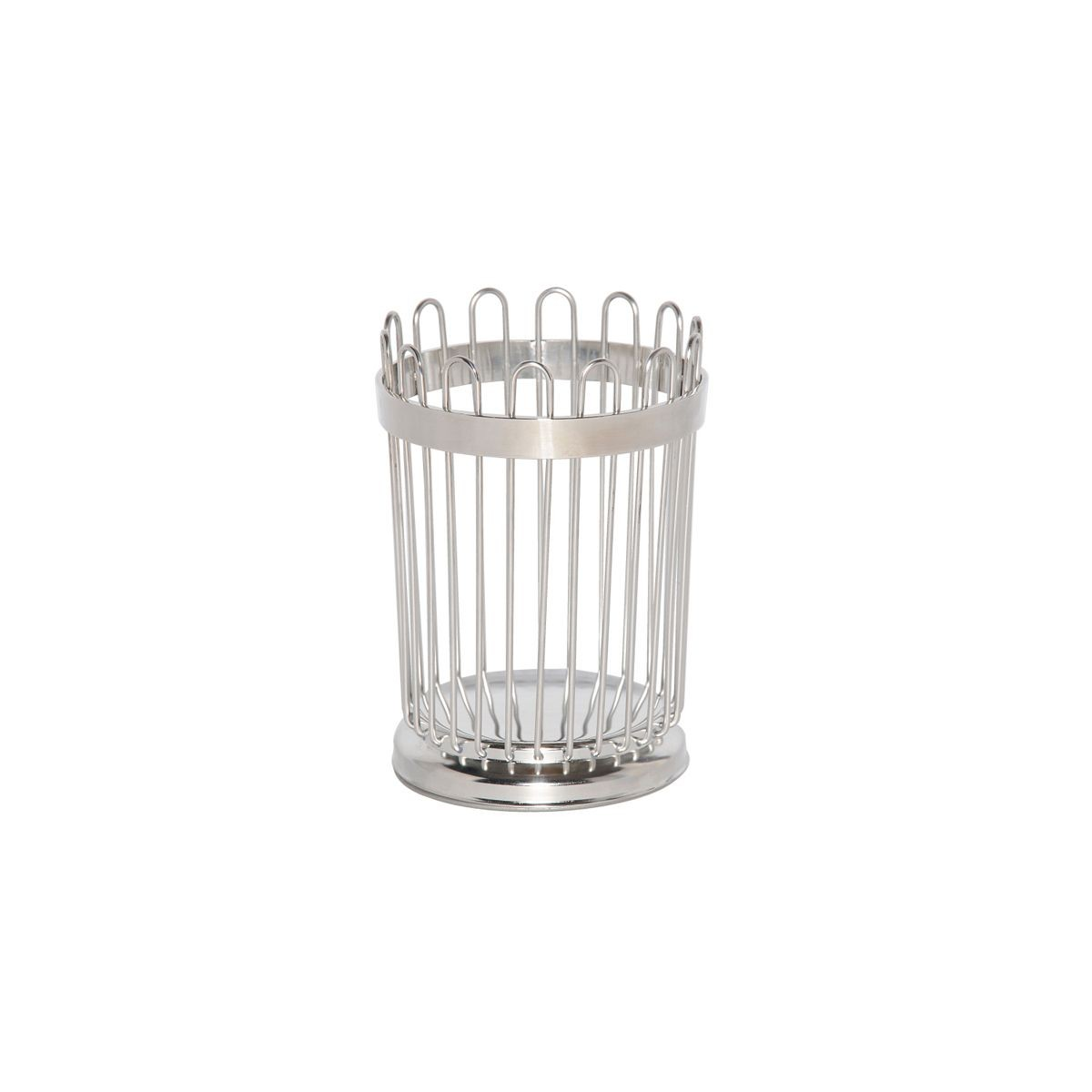 Service Ideas WBB5PS Polished Stainless Wire Breadstick Basket, 5""
