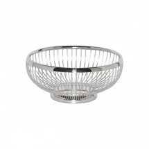 Service Ideas WBR7PS Polished Stainless Round Wire Basket, 7""