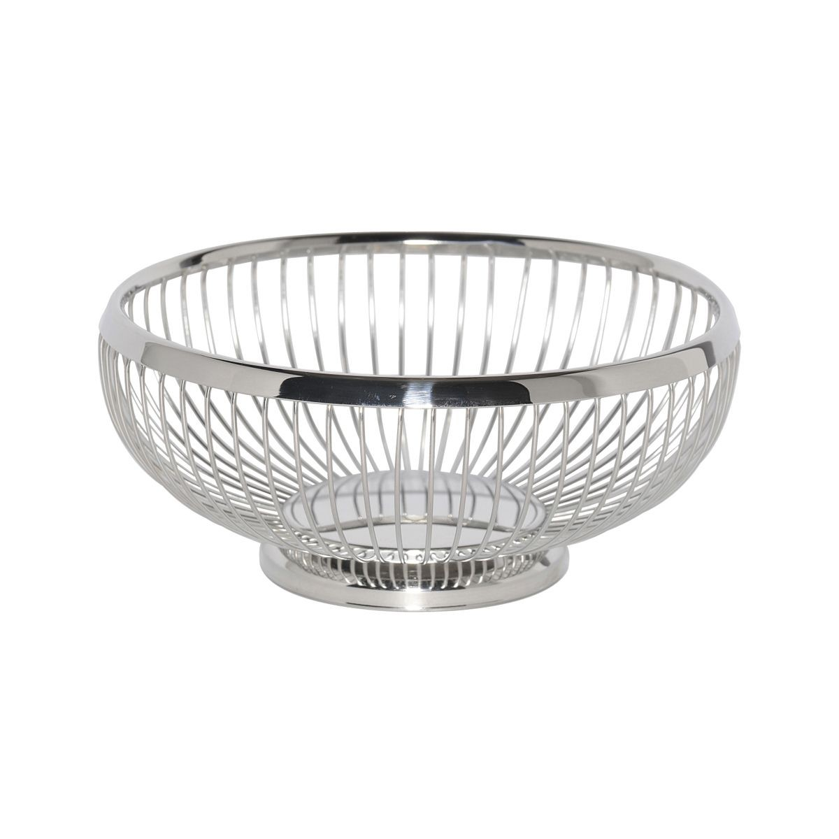 Service Ideas WBR9PS Round Wire Basket with Weighted Base, 8-1/2""