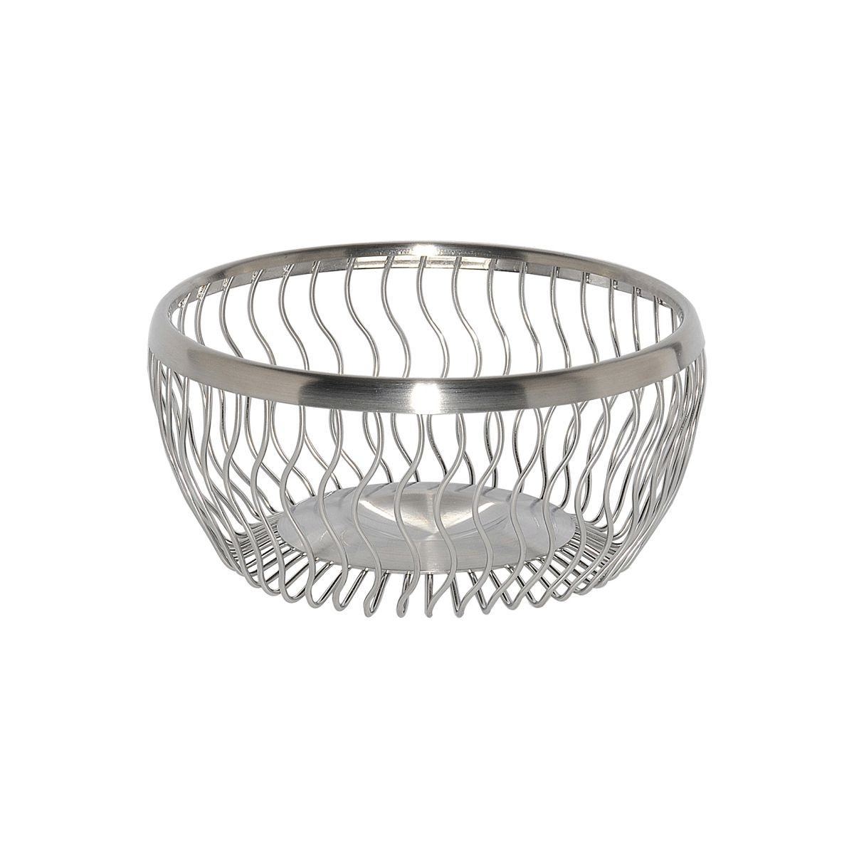 Service Ideas WBRW7BS Wavy Round Wire Basket, 7""
