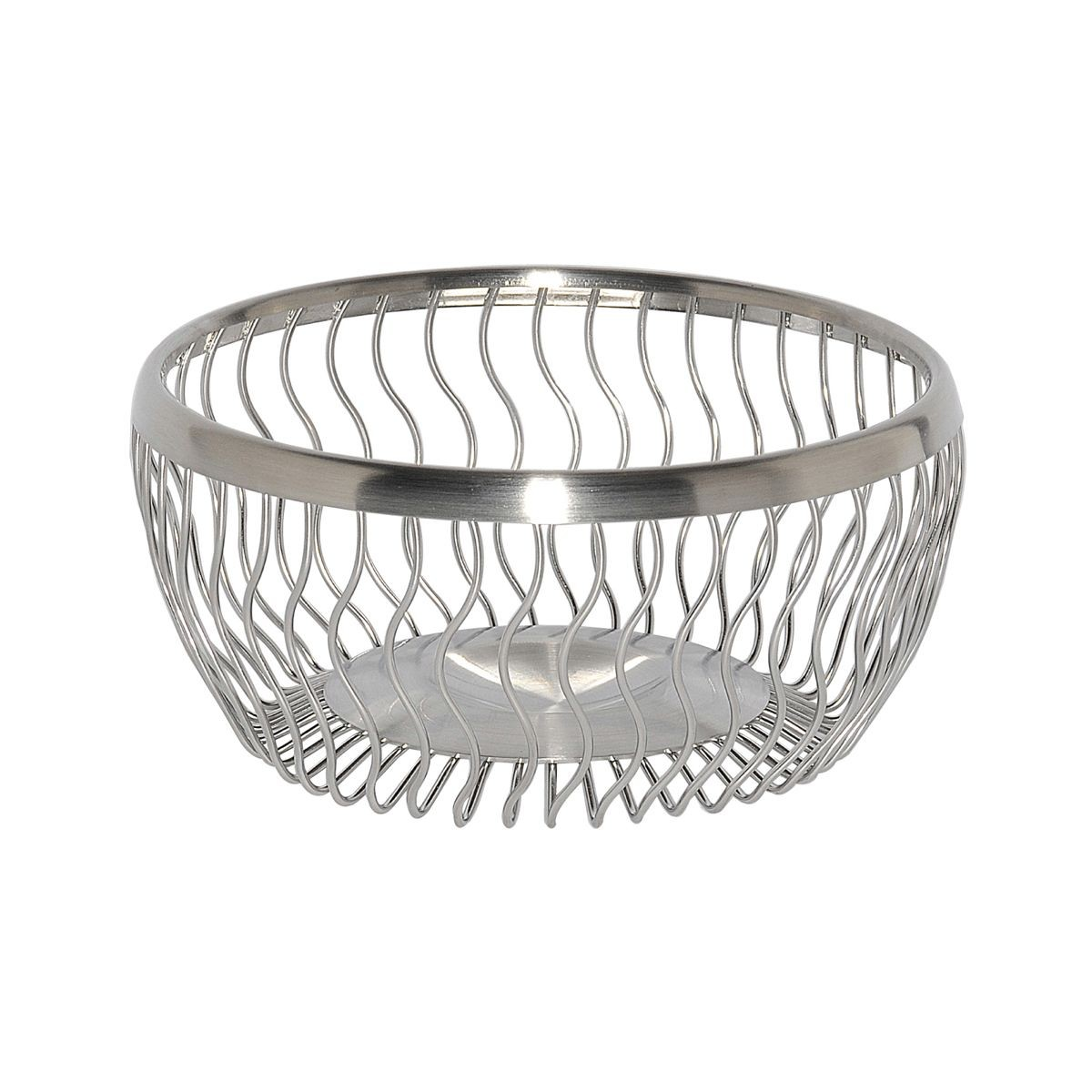 Service Ideas WBRW9BS Wavy Round Wire Basket, 9""