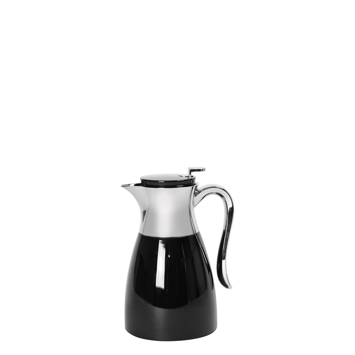 Service Ideas WES1BL Elegant Black / Chrome Server, 1 Liter