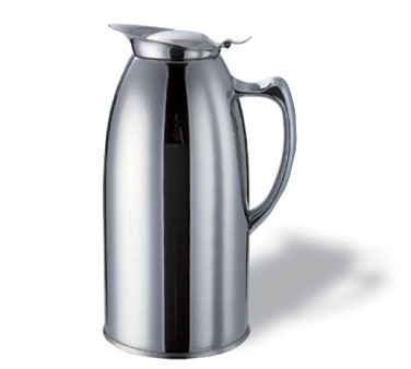 Service Ideas WP1CH Polished Stainless Steel Insulated Pitcher, 1 Liter