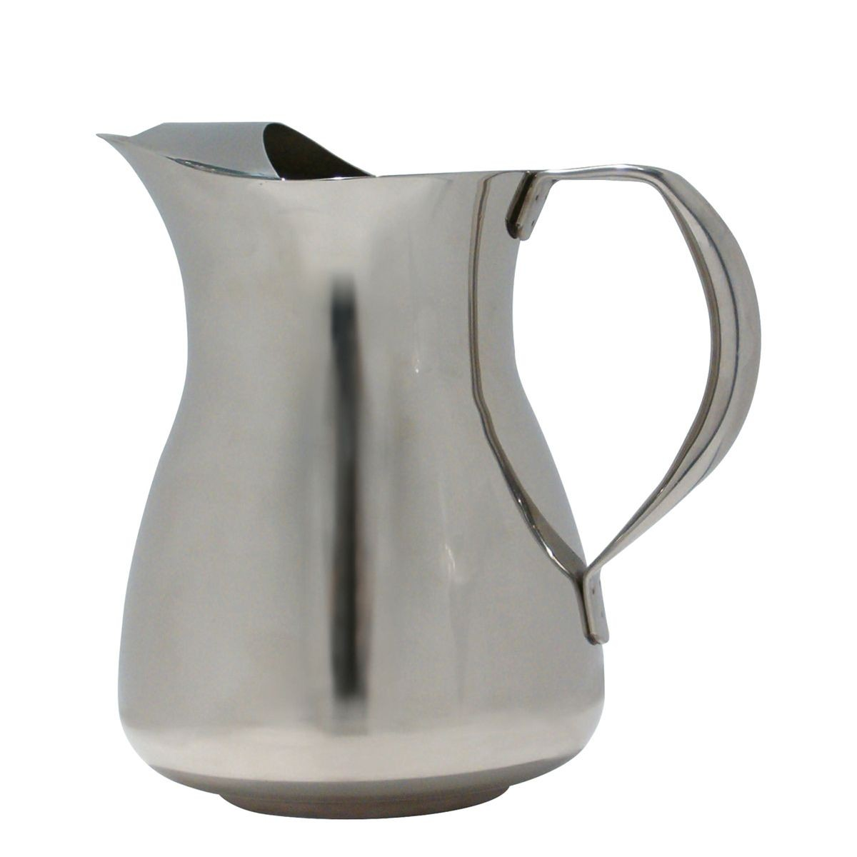Service Ideas WPS2 Stainless Water Pitcher with Ice Guard, 2 Liter