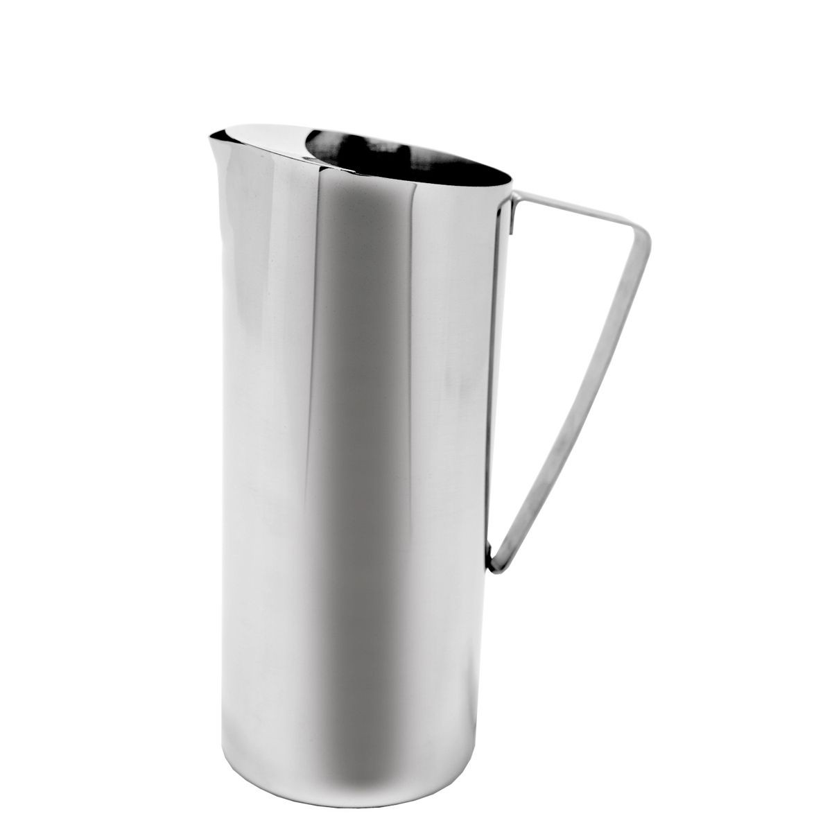 Service Ideas X7025 Chrome Finish Water Pitcher with Ice Guard, 64 oz.