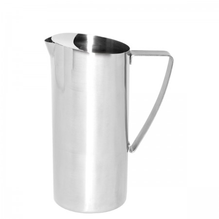 Service Ideas X7025BS Brushed Stainless Slim Water Pitcher with Ice Guard 64 oz.