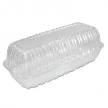 Dart Showtime Clear Plastic Hinged Containers, 29.9 oz., 5.1w x 9.9d x 3.5h, 200/Carton
