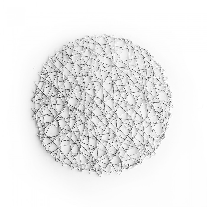The Jay Companies 1332563 American Atelier Round Silver Placemat