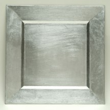 "The Jay Companies A81HR-13 Square Silver Charger Plate 13"" x 13"""