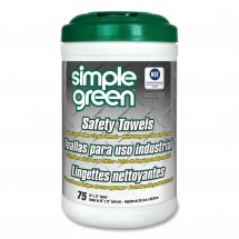 Simple Green Cleaning Safety Wipes, 6 Canisters/Carton