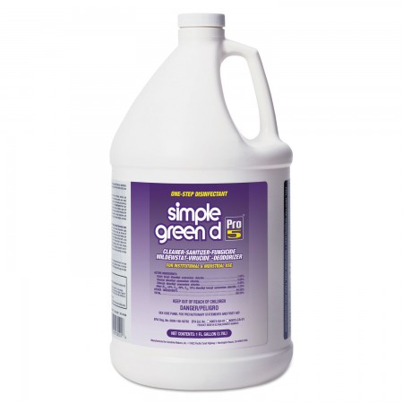 Simple Green Pro 5 One Step Disinfectant 1 Gallon, 4/Carton