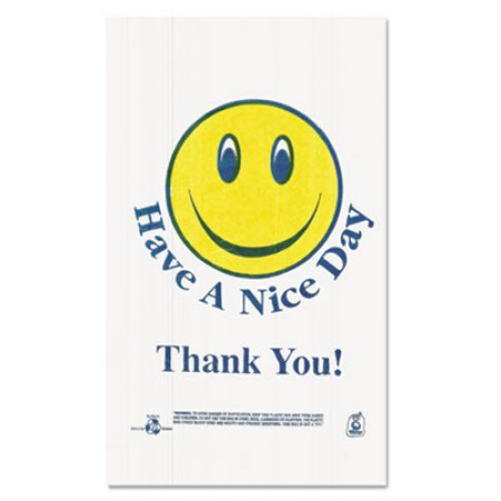 Smiley Face Shopping Bags, 12.5 microns, 11.5
