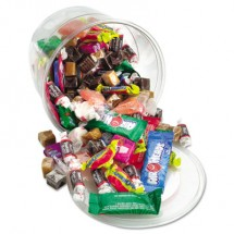 Office Snax Soft and Chewy Mix, Assorted Soft Candy, 2 lb Resealable Plastic Tub