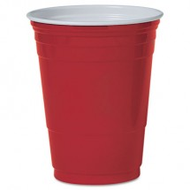 Dart Plastic Party Cold Cups, 16 oz., Red, 50/Pack