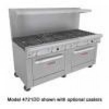 Southbend-4721DD-3C-Ultimate-Commercial-6-Burner-Gas-Range-with-36--Charbroiler-and-2-Standard-Oven-Bases