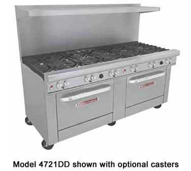 Southbend 4721DD 72 Ultimate Restaurant Gas Range with 12 Burners and 2 Standard Oven Bases
