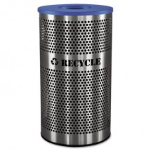 Stainless Steel Recycle Receptacle, 33 gal, Stainless Steel