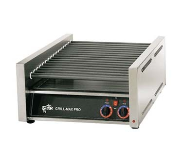 Star 30C Grill-Max Hot Dog Grill with Chrome-Plated Rollers