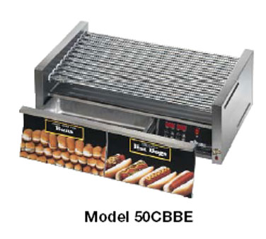 Star 30SCBDE Grill-Max Pro Hot Dog Grill with Duratec Rollers Built-in Bun Drawer