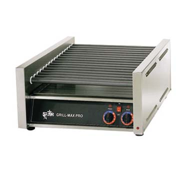 Star 45C Grill-Max Hot Dog Grill with Chrome-Plated Rollers