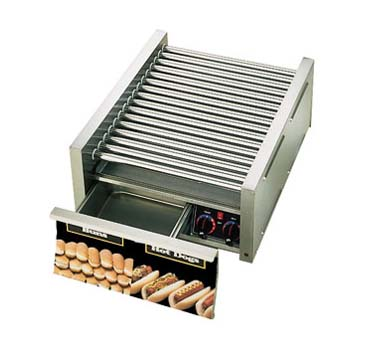 Star 45SCBD Grill-Max Pro Hot Dog Grill with Duratec Rollers and Built-in Bun Drawer