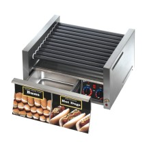 Star 50CBD Grill-Max Hot Dog Grill with Chrome-Plated Rollers and Built-in Bun Drawer