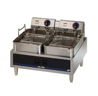 Star 530TF Star-Max Electric High Watt Dual Pot Fryer (15 lb. Each)
