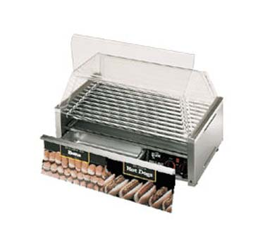 Star 75CBBC Grill-Max Hot Dog Grill with Chrome-Plated Rollers and Bun Holder