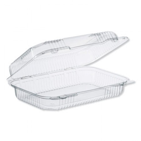 StayLock Clear Hinged Lid Containers, 32 oz, 6.8 x 9.4 x 2.6, Clear, 250/Carton