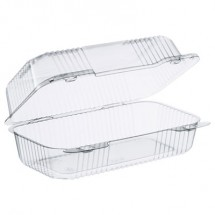 Dart Staylock Clear Hinged Lid Containers, 5.4 x 9 x 3.5, 250/Carton