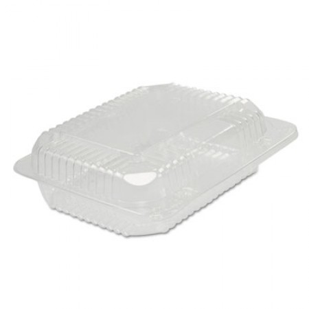 Dart StayLock Clear Plastic Hinged Lid Containers, 6