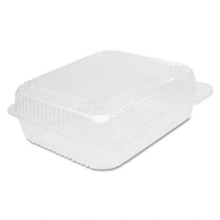 Staylock Clear Hinged Container, Plastic, 8 3/10 x 7 4/5 x 3, 125/Bag, 2BG/CT