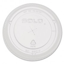 Dart Straw-Slot Cold Cup Lids, 9 oz.-20 oz. Cups, Clear, 100/Pack