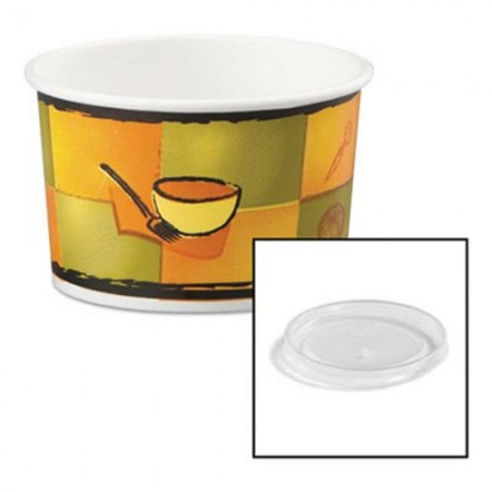 Streetside Paper Food Container with Plastic Lid, 8-10 oz. 250/Carton